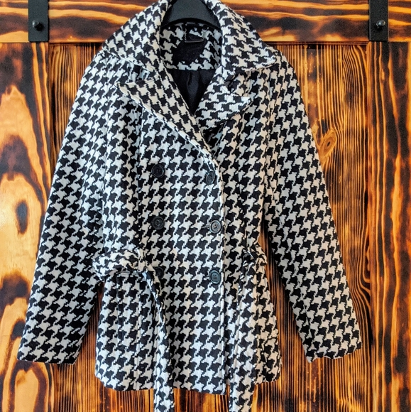 Jou Jou Jackets & Blazers - Jou Jou Black and white peacoat jacket